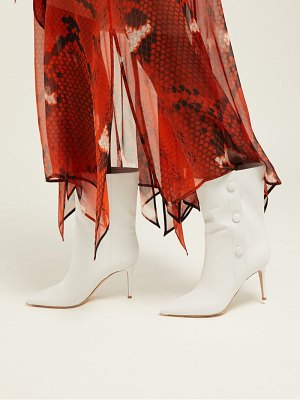 Gianvito Rossi button embellished 85 leather ankle boots