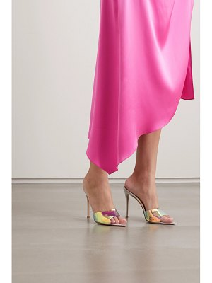 Gianvito Rossi 85mm iridescent pvc and leather mules