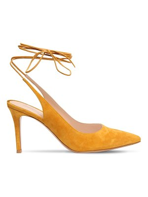 Gianvito Rossi 85mm suede lace up pumps