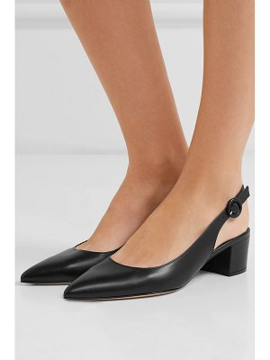 Gianvito Rossi amee 45 leather slingback pumps