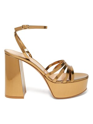 Gianvito Rossi angelica 70 leather platform sandals