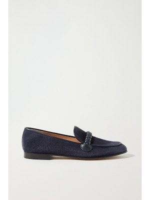 Gianvito Rossi belem 15 leather-trimmed suede loafers