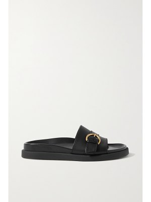 Gianvito Rossi bilbao buckled leather slides