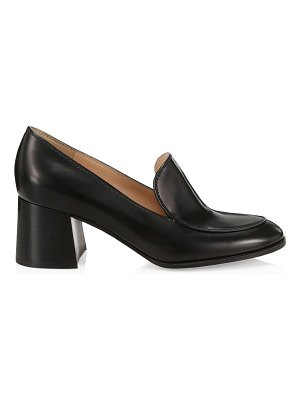 Gianvito Rossi block-heel leather loafers