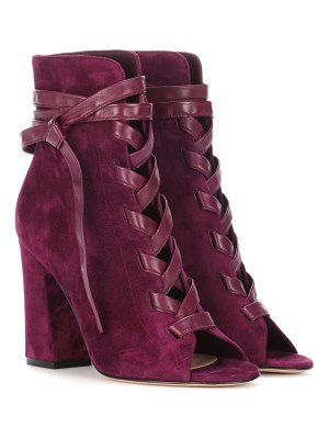 Gianvito Rossi brooklyn open-toe suede ankle boots