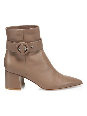 Gianvito Rossi buckle leather ankle boots