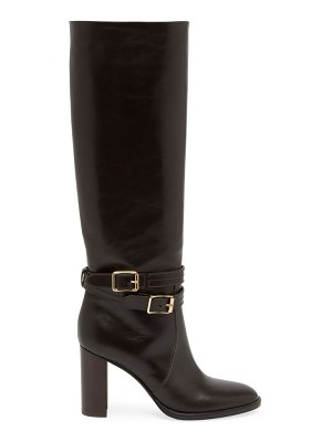 Gianvito Rossi manor buckle knee-high leather boots