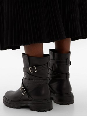Gianvito Rossi buckled leather biker boots