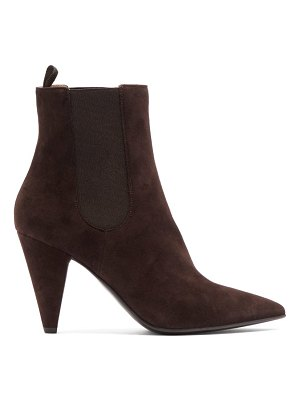 Gianvito Rossi cone heel suede ankle boots