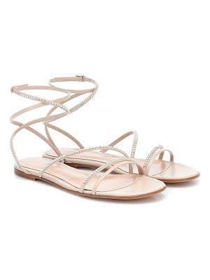 Gianvito Rossi crystal-embellished leather sandals