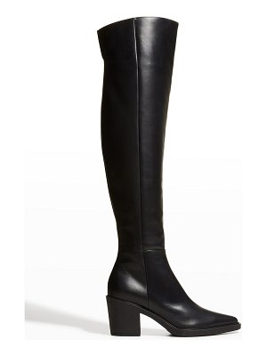 Gianvito Rossi Dylan Cuissard Vitello Glove Over-the-Knee Boots