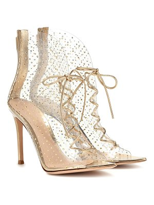 Gianvito Rossi elly 105 embellished pvc ankle boots