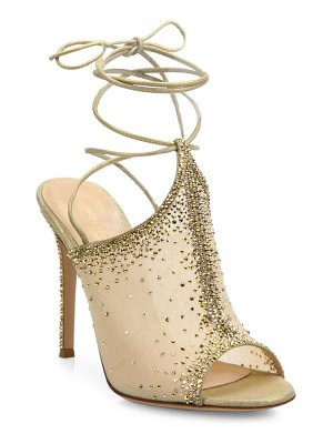 Gianvito Rossi Etoile Crystal Emellished Ankle-Wrap Sandals