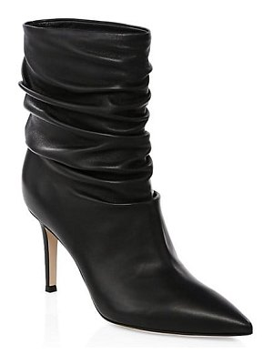 Gianvito Rossi cecile ruched leather ankle boots