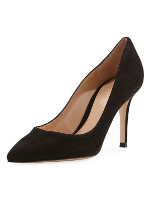 Gianvito Rossi Gianvito 85 Suede Point-Toe 85mm Pump