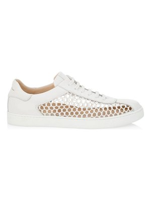 Gianvito Rossi helena mesh leather sneakers