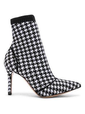Gianvito Rossi Houndstooth Knit Ankle Boots