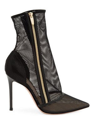 Gianvito Rossi katniss zip-up mesh ankle boots