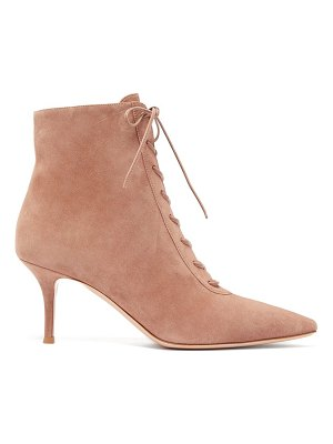 Gianvito Rossi lace-up 70 suede ankle boots