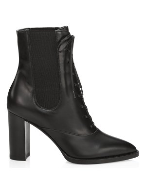 Gianvito Rossi lace-up leather booties