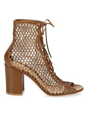 Gianvito Rossi lace-up mesh booties