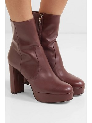 Gianvito Rossi leather platform ankle boots