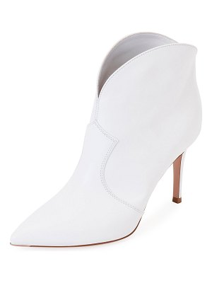Gianvito Rossi Leather Pointed Western Booties