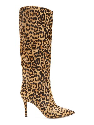 Gianvito Rossi hunter 85 leopard print knee high boots