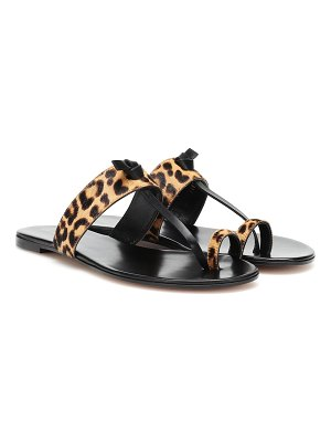 Gianvito Rossi leopard-printed leather sandals