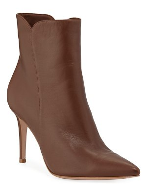 Gianvito Rossi Levy Notched Leather 85mm Booties