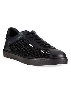 Gianvito Rossi Mesh Leather Low-Top Sneakers