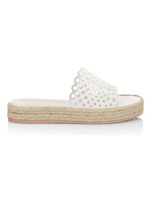 Gianvito Rossi perforated leather espadrille slides