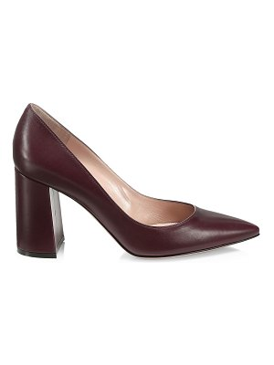 Gianvito Rossi piper block-heel leather pumps