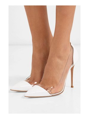 Gianvito Rossi plexi 105 patent-leather and pvc pumps