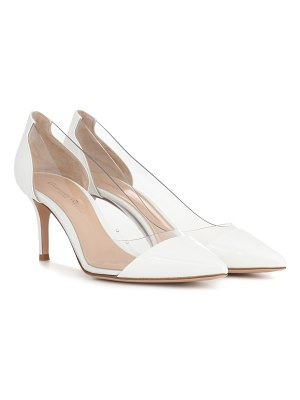 Gianvito Rossi Plexi 70 patent leather pumps