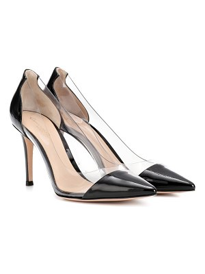 Gianvito Rossi Plexi 85 patent leather pumps