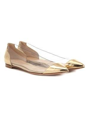 Gianvito Rossi plexi patent leather ballet flats
