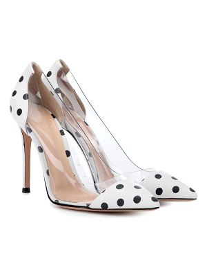 Gianvito Rossi Plexi polka-dot leather pumps