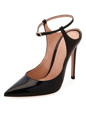 Gianvito Rossi Pointed-Toe Ankle-Strap Pumps