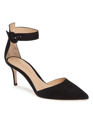 Gianvito Rossi pointy toe ankle strap pump