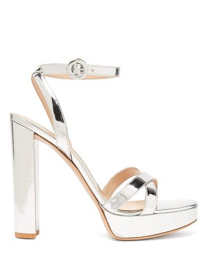 Gianvito Rossi poppy 100 metallic-leather platform sandals