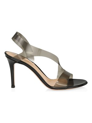 Gianvito Rossi pvc & leather slingback sandals