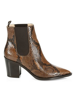 Gianvito Rossi python leather ankle boots
