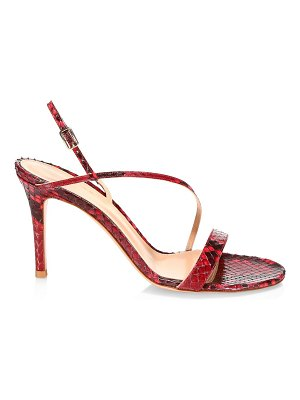 Gianvito Rossi python leather slingback sandals