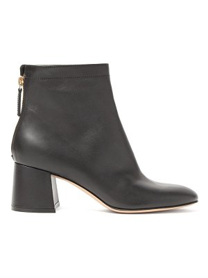 Gianvito Rossi round-toe leather ankle boots