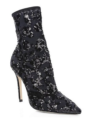 Gianvito Rossi leopard-print sequin ankle boots