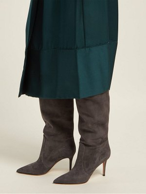 Gianvito Rossi slouchy 85 knee high suede boots