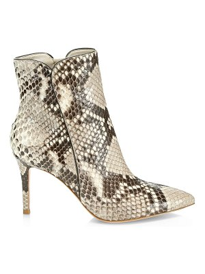 Gianvito Rossi levy python ankle boots