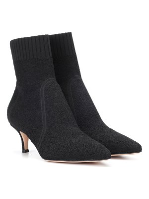 Gianvito Rossi Stretch bouclé ankle boots