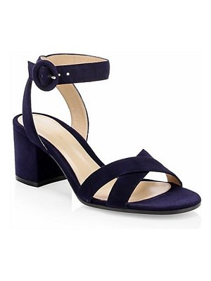 Gianvito Rossi suede block heel sandals